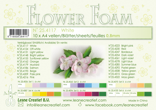 Leane Creatief - Flower foam sheets a4 White