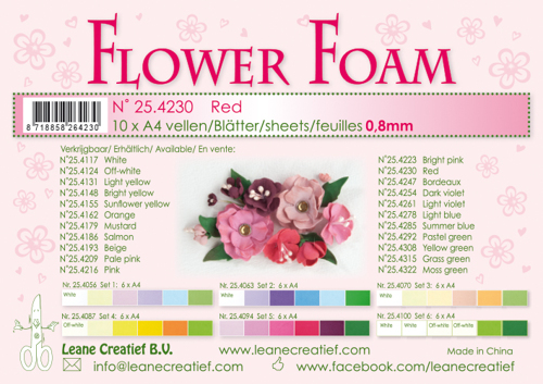 Leane Creatief - Flower foam sheets a4 Red