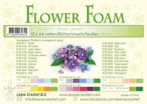 Leane Creatief - Leave Creatief - Flower foam sheets a4 grass green