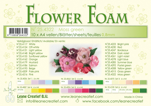 Leane Creatief - Flower foam sheets a4 moss green