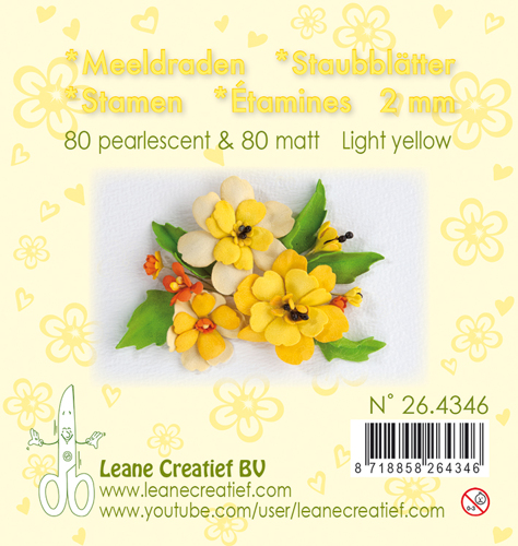 Leane Creatief - Meeldraden - pearl light yellow