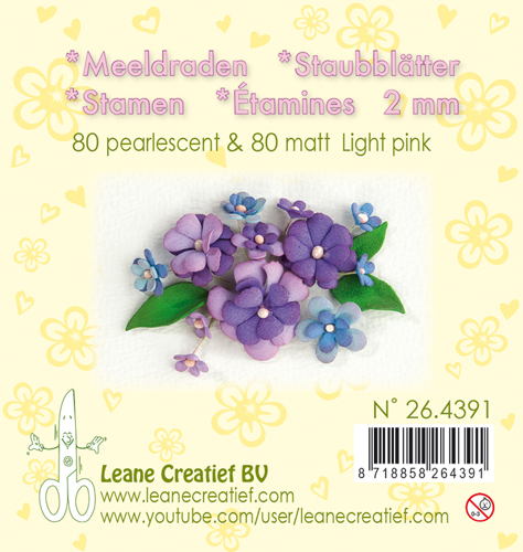 Leane Creatief - Meeldraden - light pink