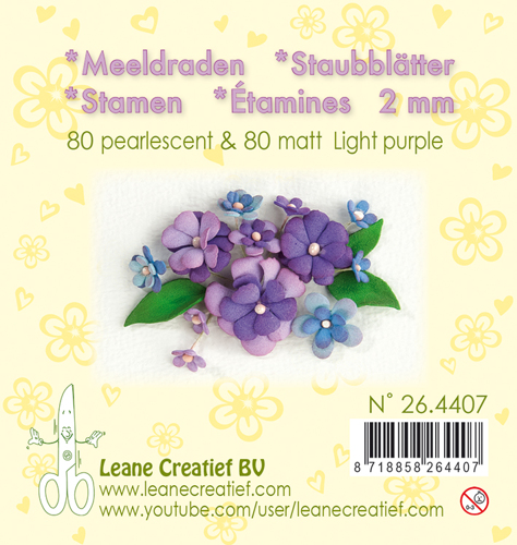Leane Creatief - Meeldraden - light purple