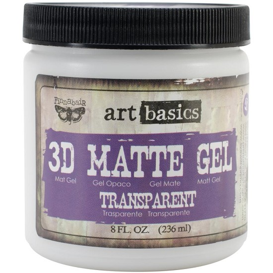 Finnabair - Art Basics - 3D Matte Gel - 8oz