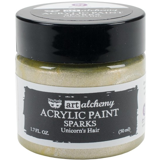 Finnabair Art Alchemy - Acrylic Paint - Sparks - Unicon`s Hair