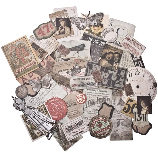 Tim Holtz - Idea-Ology Ephemera Pack 54/Pkg - Thrift Shop