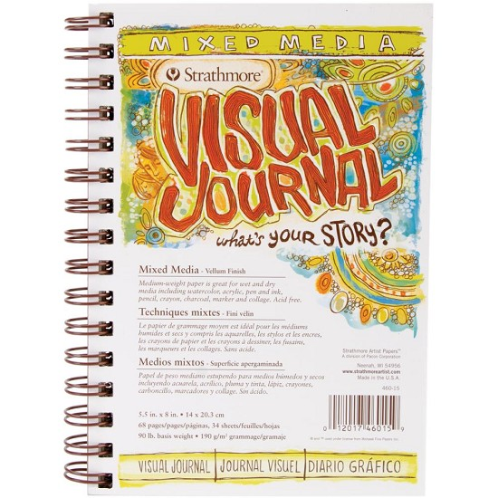"Strathmore - Visual Journal Mixed Media Vellum - 5.5""X8"""