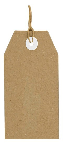 Joy! Crafts - Kraft tags 80 x 40 mm
