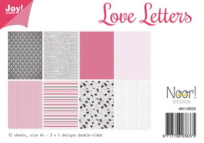 Noor! Design - Paperpad A4 - Love Letters