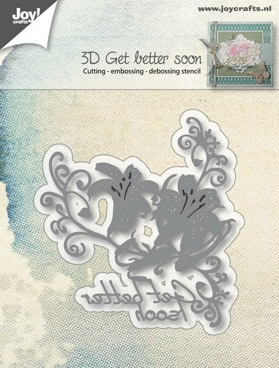 Joy! Crafts - Cutting Stencil - Get Better Soon