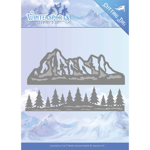 Stansmal - Jeanine`s Art - Wintersports - Mountain Border