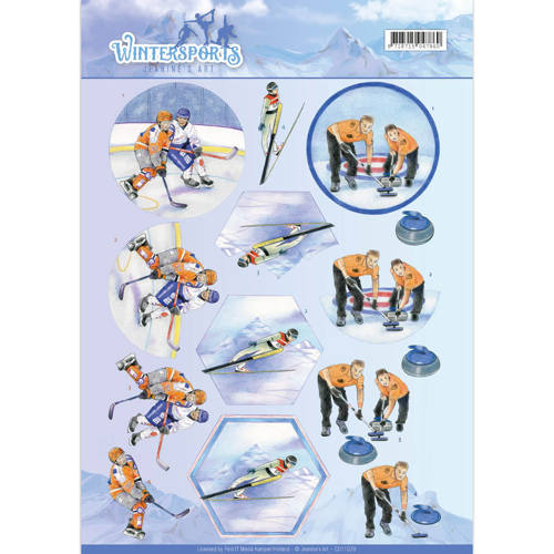 3D Knipvel - Jeanine`s Art - Wintersports - Ice Hockey