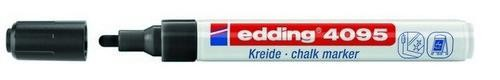 Edding-4095 - Chalk / window marker 2-3 mm - zwart
