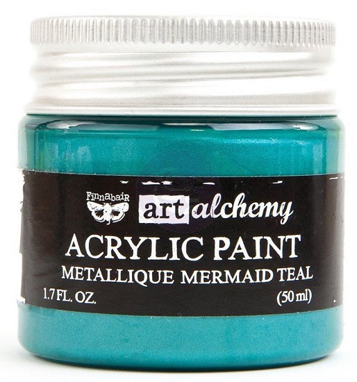 Finnabair Art Alchemy - Acrylic Paint - Metallique - Mermaid Teal