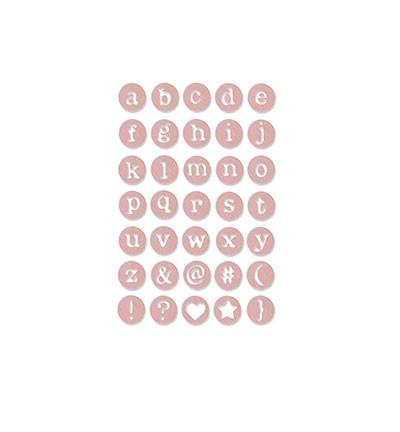 Sizzix - Thinlits Die Set - Dainty Uppercase Letters