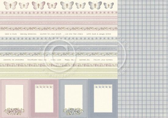 Scrappapier PION Design - Days Gone By - Borders