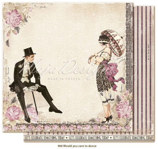 Scrappapier Maja Design - Celebrations - Would you care to dance?
