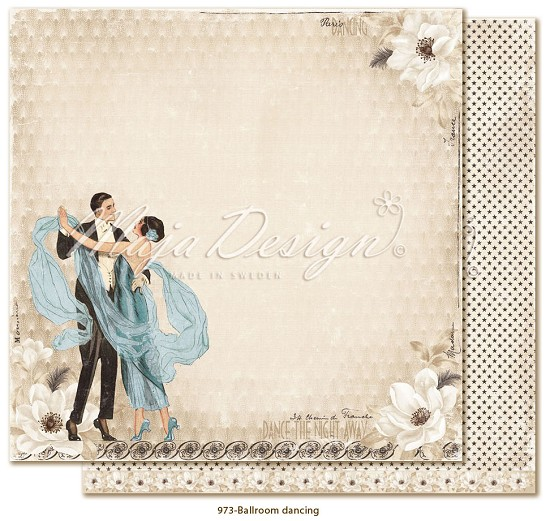 Scrappapier Maja Design - Celebrations - Ballroom dancing