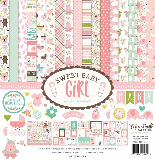 "Echo Park - Sweet Baby - Girl Collection Kit 12"" x 12"""