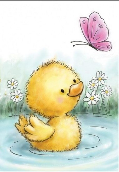 Clearstamp - Wild Rose Studio`s -  A7 Little Duck