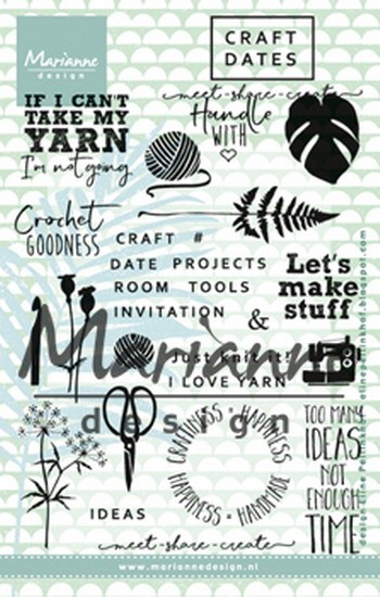 Marianne Design - Clearstamp Eline - Craft dates 1
