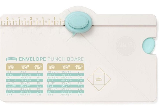 We R Memory Keepers - Mini Envelope Punch Board