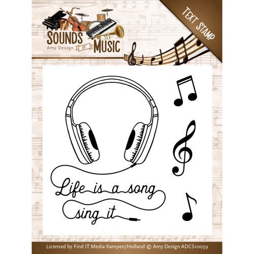 Clearstamp - Amy Design - Sounds of Music