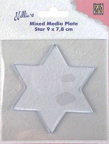 "Nellie Snellen - Mixed Media Plates - ""star-shape"""