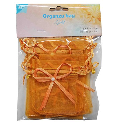 Joy! Crafts - Organza zakjes - Goud