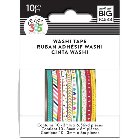 Me & My Big Ideas - Happy Planner Washi Tape - Brights