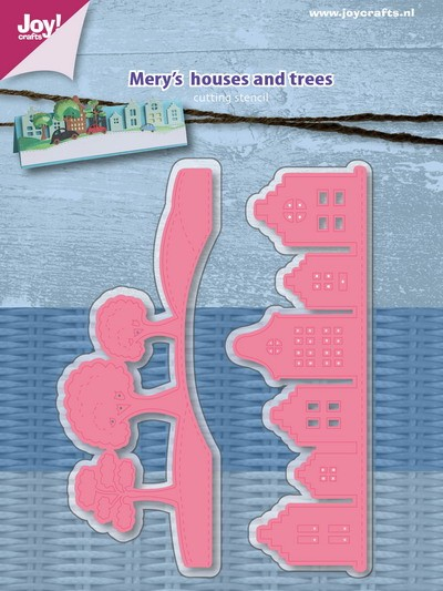 Joy! Crafts - Cutting & Embossingstencil - Mery`s Huizen en bomen