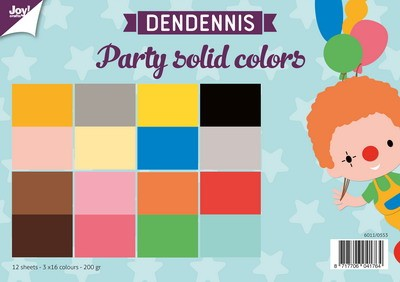 Joy! Crafts - Paperpad DenDennis Party - Solid Colors