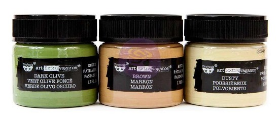 Finnabair Art Extravagance - Rust Effect Paste 50ml Jars 3/Pkg - Camouflage