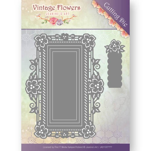 Stansmal Jeanine`s Art - Vintage Flowers - Floral Rectangle