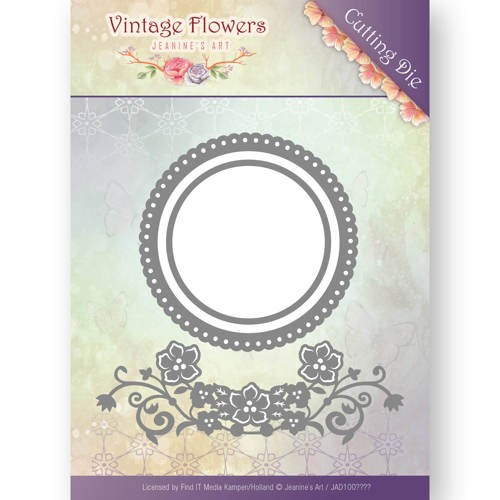 Stansmal Jeanine`s Art - Vintage Flowers - Flowers and Circles