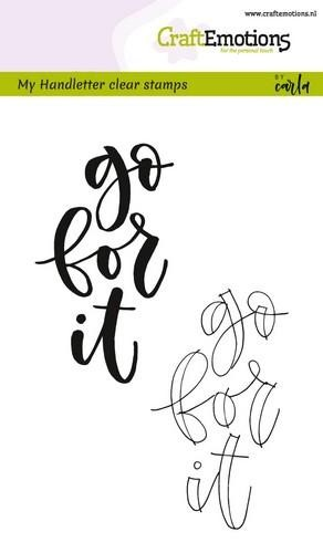 CraftEmotions - Clearstamps A6 - Handletter Go for it