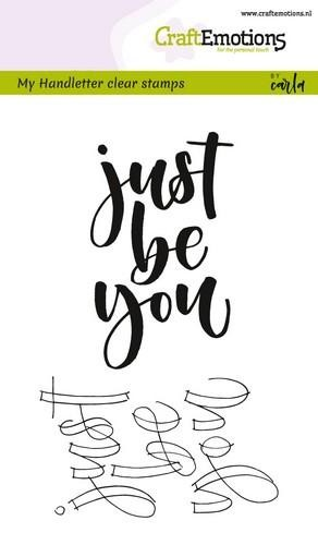 CraftEmotions - Clearstamps A6 - Handletter Just be You