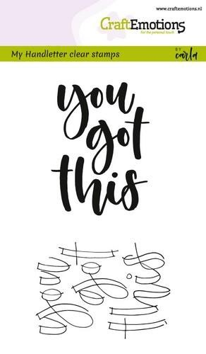 CraftEmotions - Clearstamps A6 - Handletter You Got This