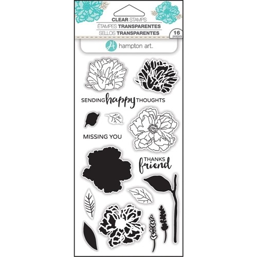 Hampton Art - Layering Stamps - Happy Thoughts