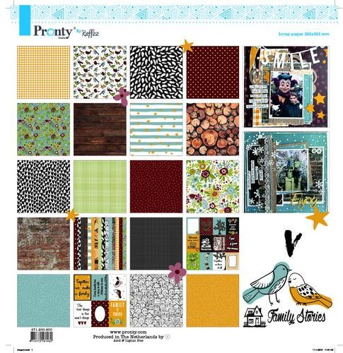 Pronty Scrap by Raffzz - Family Stories - Paperpad 30,5 x 30,5