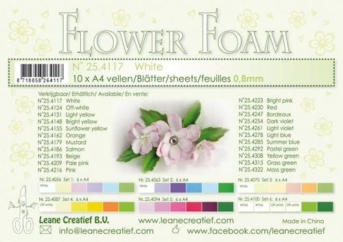 Leane Creatief - Flower foam sheets a4 White (10 vel)