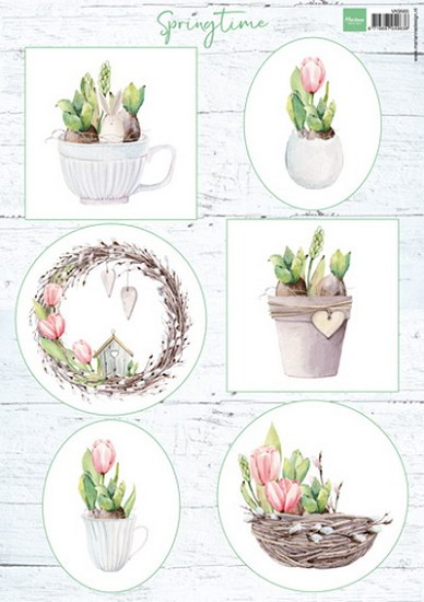 Marianne Design - Knipvel Tulips & willow cats