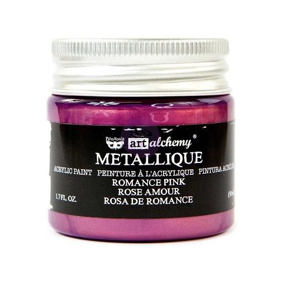 Finnabair Art Alchemy - Acrylic Paint 1.7 Fluid Ounces - Metallique Romance Pink