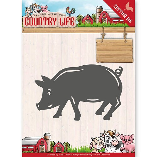 Stansmal - Yvonne Creations - Country Life Pig