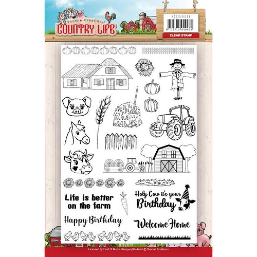 Clearstamp - Yvonne Creations Country Life