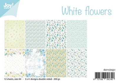 Joy! Crafts - Paperpad A4 - White Flowers