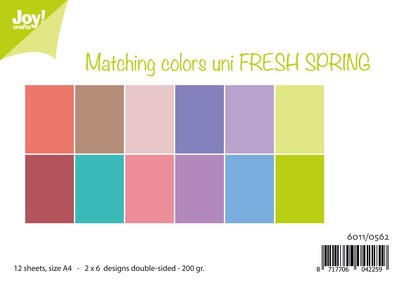 Joy! Crafts - Paperpad A4 - Matching Colors Fresh Spring