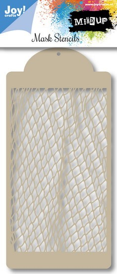 Noor! Design - Mixd Up! - Mask stencil Fishnet