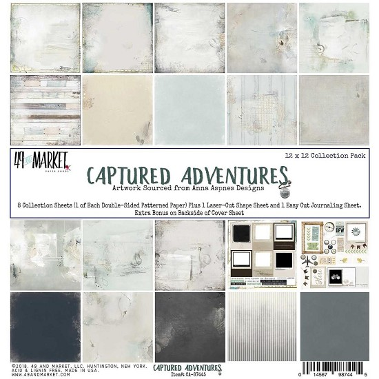 "49&Market Collection - Pack 12""X12"" - Captured Adventure"
