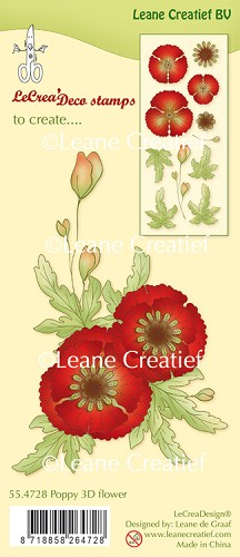 Leane Creatief - Clear stamp klaproos 3D flower